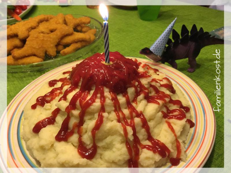Abendessen Kindergeburtstag Dinoparty