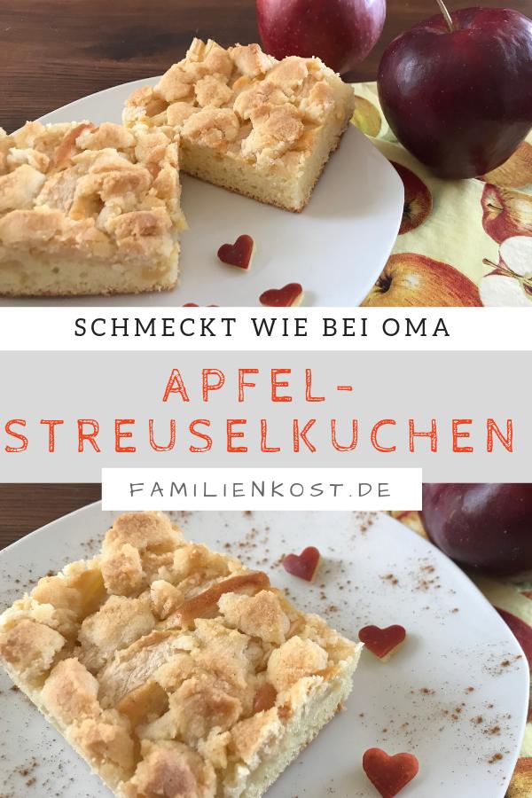 Apfelkuchen Vom Blech Mit Streuseln Einfaches Rezept