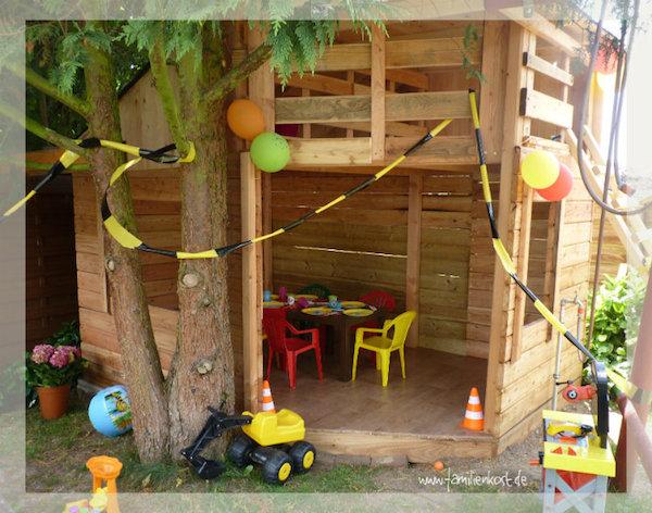 Mottoparty Baustelle zum Kindergeburtstag