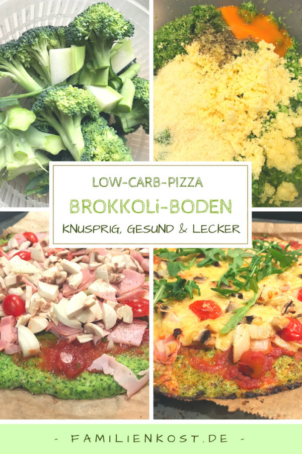 Low Carb Pizza Rezept mit Brokkoli-Boden