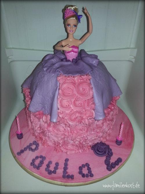 barbie torte zum geburtstag mit fondant selber machen. Black Bedroom Furniture Sets. Home Design Ideas