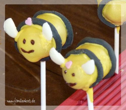 Cake Pop Bienen
