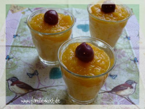 Fruchtige Pfirsichcreme