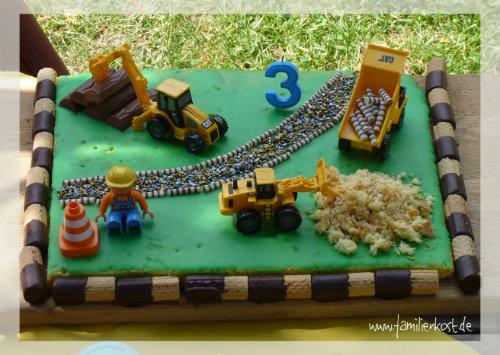 Baustellen Kuchen Zum Kindergeburtstag Fur Bob Und Freunde