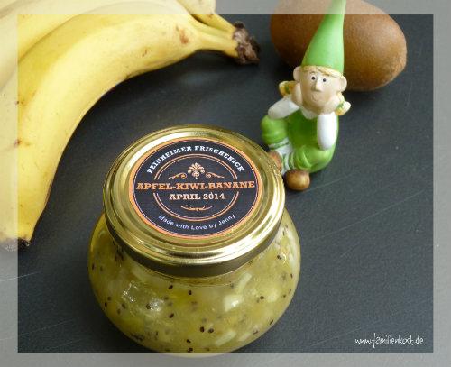 Bananen-Kiwi-Marmelade mit Apfel