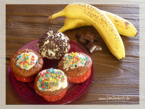 Schoko-Bananenmuffins