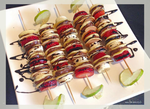 Mini-Pancake-Spiesse mit Obst