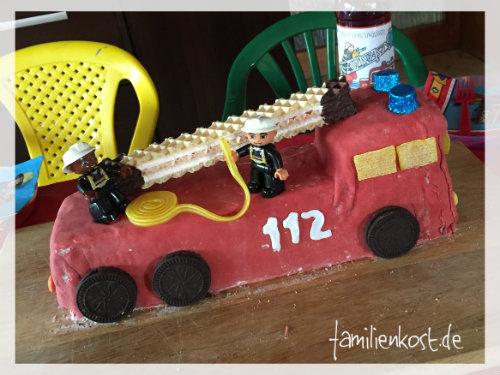 Feuerwehrauto-Kuchen