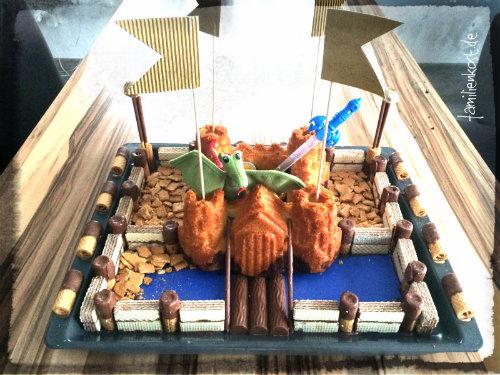 Einfacher Ritterburg Kuchen Aus Der Silikonbackform
