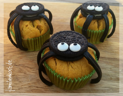 halloween muffins rezept f r k rbis spinnen muffins. Black Bedroom Furniture Sets. Home Design Ideas