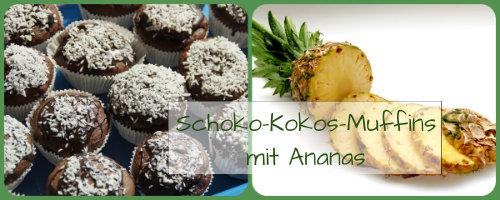 Schoko-Kokos-Muffins mit Ananas