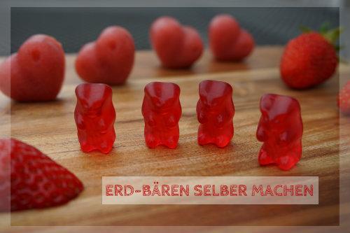 Erdbeer-Gummibärchen selber machen