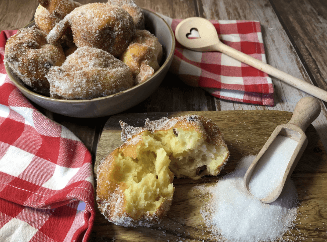 Uroma Lottis Quarkspitzen mit Kartoffeln