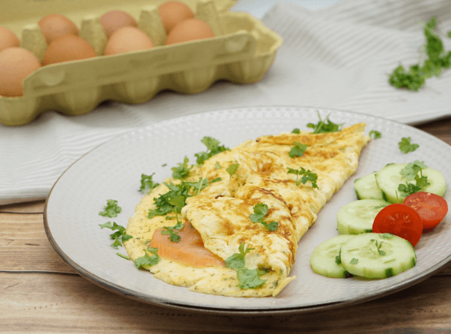 Gesundes Lachs-Omelette