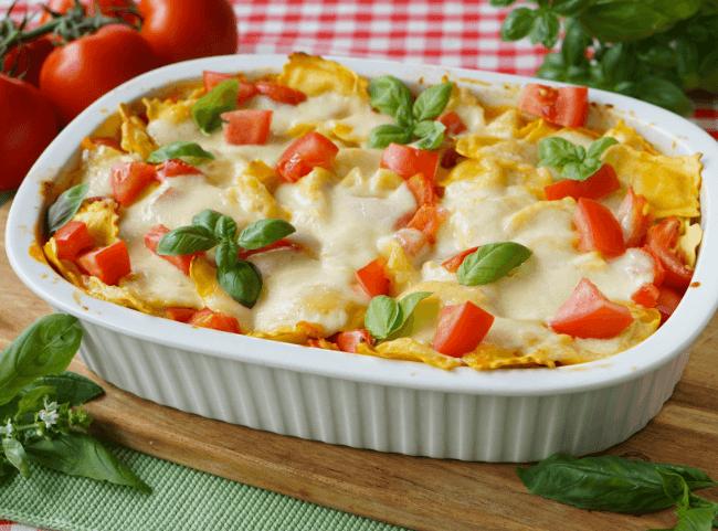 Tortellini Auflauf Tomate-Mozzarella