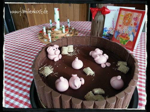 Schweine im Schlammbad-Torte