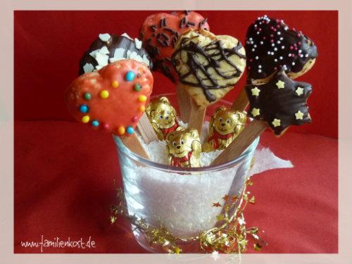 Kekse Am Stiel Weihnachtskekse Fur Kinder