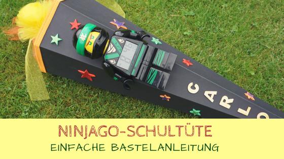 Anleitung zum Basteln einer Lego Ninjago Schultüte