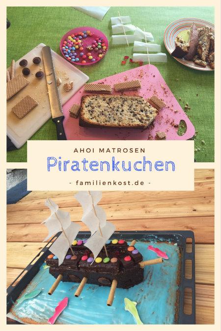Piratenkuchen Mit Piratenschiff Fur Piraten Kindergeburtstag