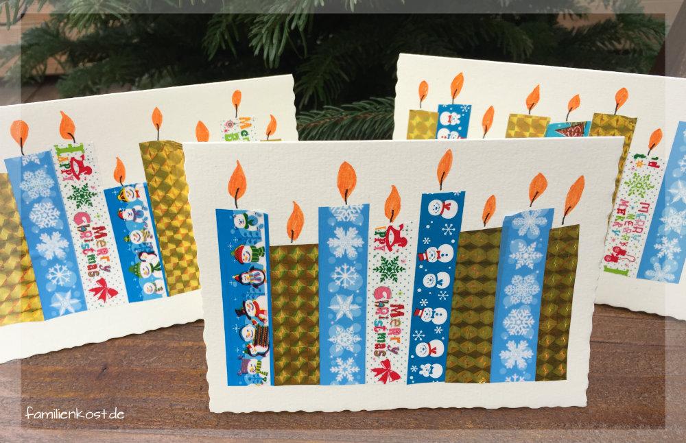 Weihnachtskarten basteln - Weihnachtskarten basteln mit kindern ...