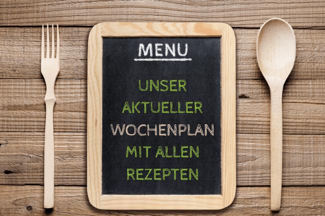 Wochenplan - Essen für die Familie mit Kind