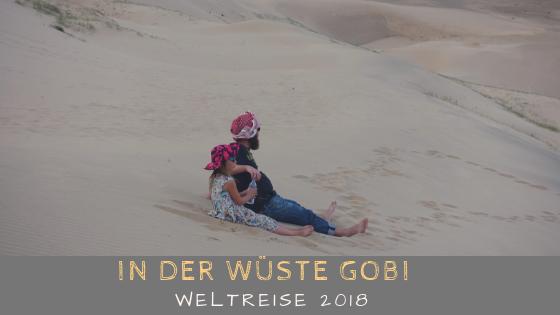 Wüste Gobi mit Kind